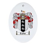 Taylor Coat of Arms Oval Ornament