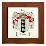 Taylor Coat of Arms Framed Tile