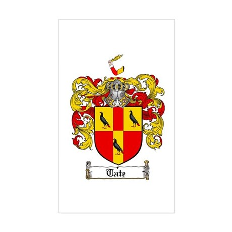 Tate Coat of Arms Rectangle Sticker