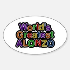 World's Greatest Alonzo Oval Decal
