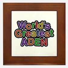 World's Greatest Aden Framed Tile