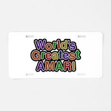 World's Greatest Amari Aluminum License Plate