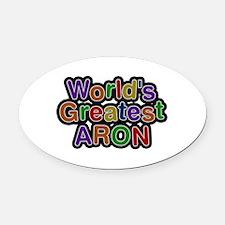 World's Greatest Aron Oval Car Magnet