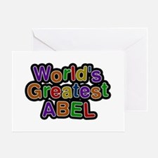 World's Greatest Abel Greeting Card