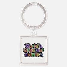 World's Greatest Annika Square Keychain