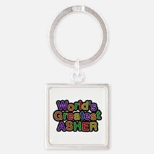 World's Greatest Asher Square Keychain