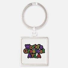 World's Greatest Ayla Square Keychain