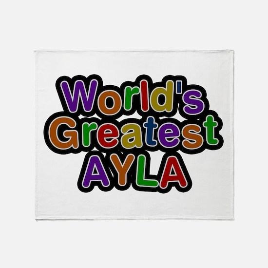 World's Greatest Ayla Throw Blanket