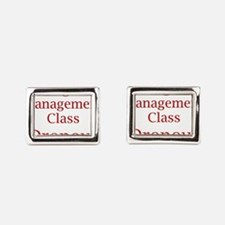 Unique Anger management Rectangular Cufflinks