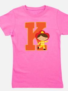 Letter K Firefighter Monogram T-Shirt