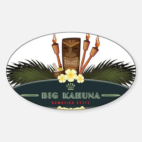 Big Kahuna Tiki Sticker (Oval)