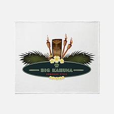 Big Kahuna Tiki Throw Blanket