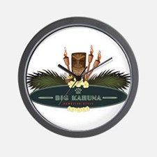 Big Kahuna Tiki Wall Clock