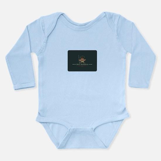 Big Kahuna with Figure Long Sleeve Infant Bodysuit