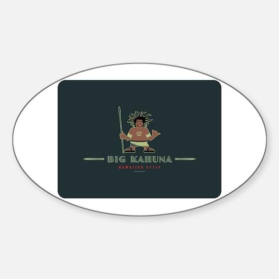 Big Kahuna with Figure Sticker (Oval)