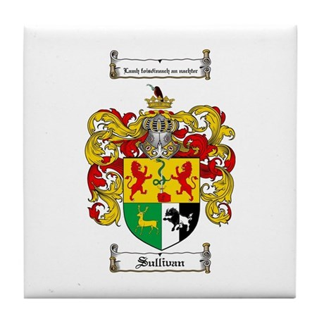 Sullivan Coat of Arms Tile Coaster