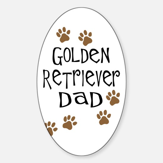 Golden Retriever Dad Sticker (Oval)