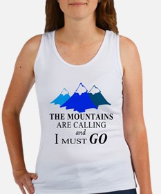 The Mountains are Calling Tank Top