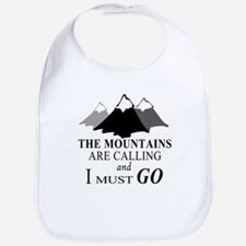 The Mountains are Calling Baby Bib
