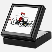 Hot Rod Cartoon Design Keepsake Box