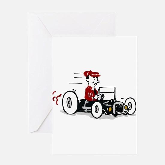 Hot Rod Cartoon Design Greeting Cards