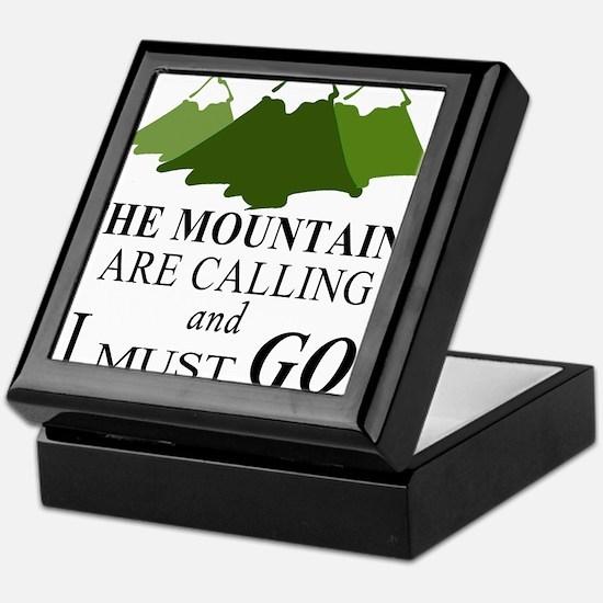 The Mountains are Calling Keepsake Box