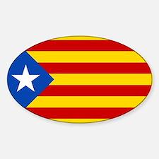 Estelada Blava - Bandera independentista C Decal