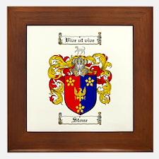 Stone Coat of Arms Framed Tile