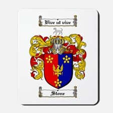 Stone Coat of Arms Mousepad