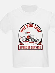 Hot Rod Shop Cartoon T-Shirt