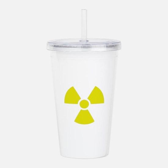 Radiation warning sign Acrylic Double-wall Tumbler