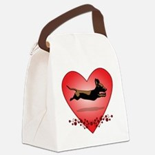 I love dachshunds Canvas Lunch Bag