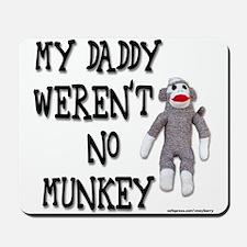 Evolution Sock Monkey Mousepad