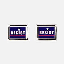 Resist Rectangular Cufflinks
