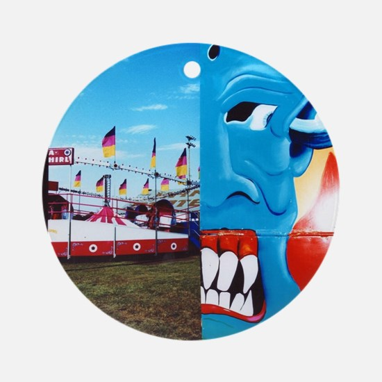 Carnival Face Round Ornament