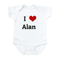I Love Alan  Infant Bodysuit