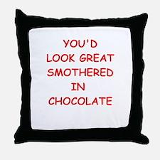 good enough to eat Throw Pillow