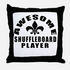 Awesome Shuffleboard Player Designs Throw Pillow
