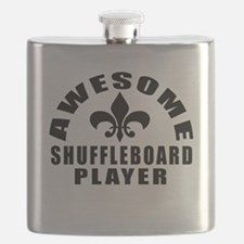 Awesome Shuffleboard Player Designs Flask
