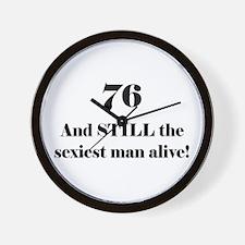 76 Still Sexiest 1C Black Wall Clock