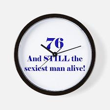 76 Still Sexiest 1C Blue Wall Clock