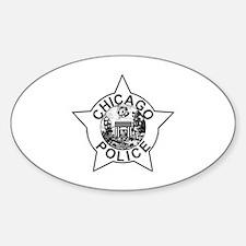 Cute Chicago police Sticker (Oval)