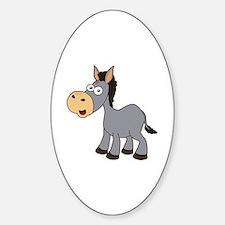 Cute Donkey colt Sticker (Oval)