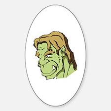 Cute Grinning monster Sticker (Oval)
