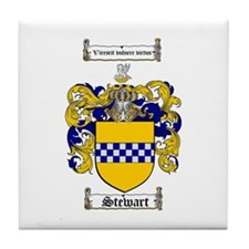 Stewart Coat of Arms Tile Coaster