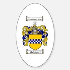 Stewart Coat of Arms Oval Decal