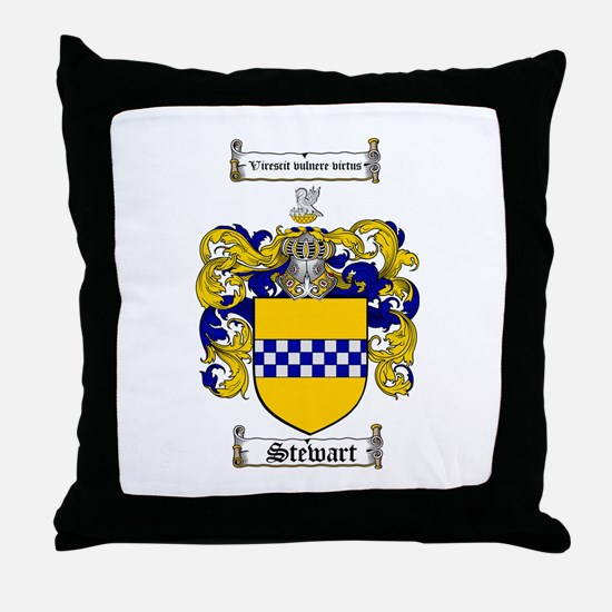 Stewart Coat of Arms Throw Pillow