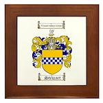 Stewart Coat of Arms Framed Tile
