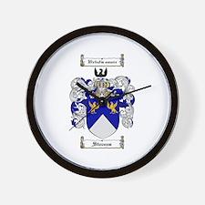 Stevens Coat of Arms Wall Clock