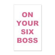 ON YOUR SIX BOSS Wall Decal